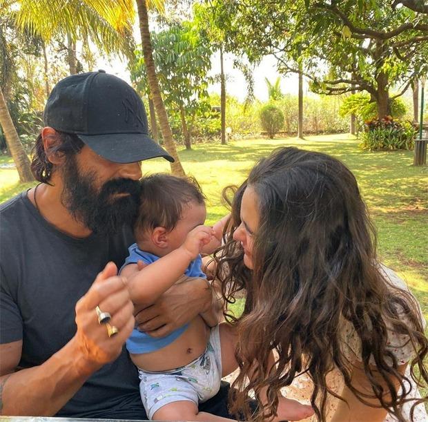 Arjun Rampal, girlfriend Gabriella Demetriades and son Arik secure in Karjat amid lockdown