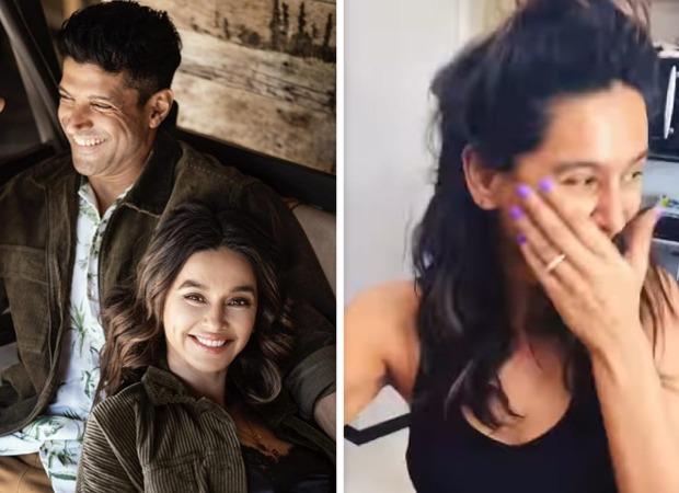Cute! Farhan Akhtar films girlfriend Shibani Dandekar cook as she ruins mushroom pasta
