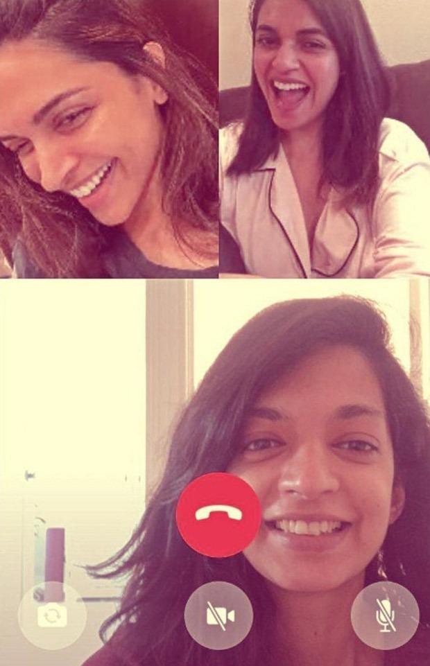 Deepika Padukone looks cheerful as she video calls her best friends amid lockdown