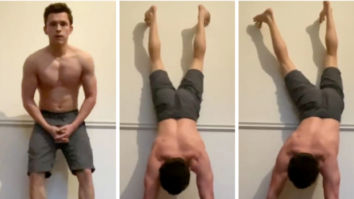 Spiderman actor Tom Holland attempts to wear a shirt while doing a handstand, nominates Jake Gyllenhaal and Ryan Reynolds