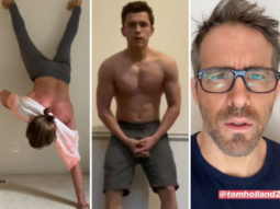 Jake Gyllenhaal attempts Tom Holland's shirtless handstand challenge, Ryan Reynolds has hilarious response