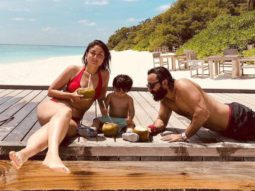 Kareena Kapoor Khan shares a throwback picture with Saif Ali Khan and Taimur Ali Khan as the trio chills on a beach
