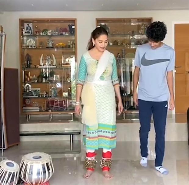 Madhuri Dixit teaches Kathak to her son Arin Nene, watch video