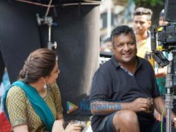 On the set of the movie Mumbai Saga