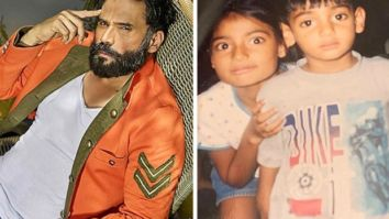Suniel Shetty posts a cute childhood picture of Athiya and Ahan Shetty, calls them saint and satan!