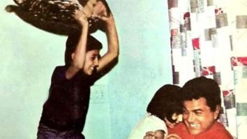 THROWBACK: When a young Sunny Deol engaged in a pillow fight with his sister and dad Dharmendra