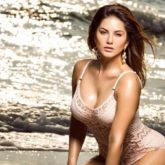 Sunny Leone raises the oomph in a monokini as she poses on the beach in this throwback picture