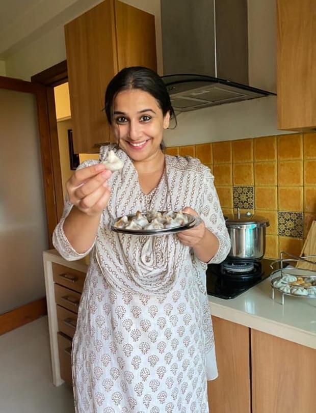 Vidya Balan takes up cooking as she makes modaks amid lockdown, watch video