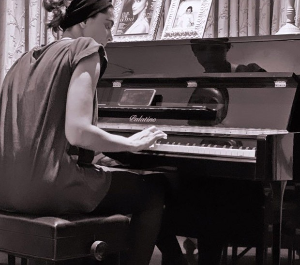 Deepika Padukone is thankful for music amid nationwide lockdown as she continues to learn playing piano