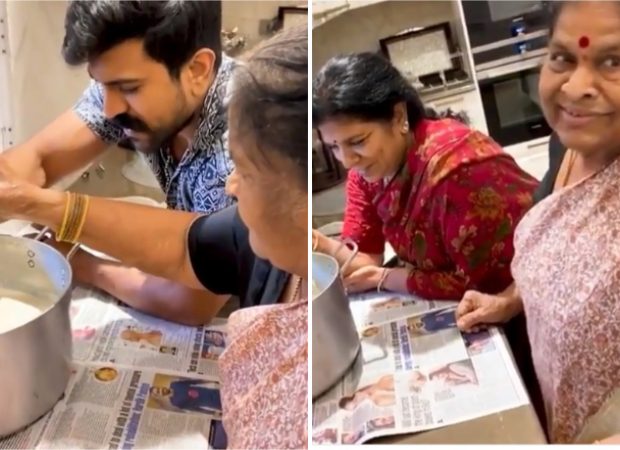 Ram Charan learns how to make butter at home with the help of his grandmother's recipe
