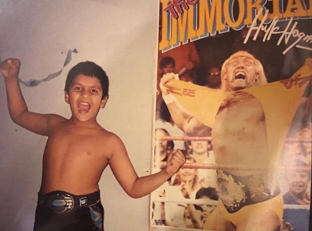 Ranveer Singh shares throwback photo of himself fanboying over WWE star Hulk Hogan