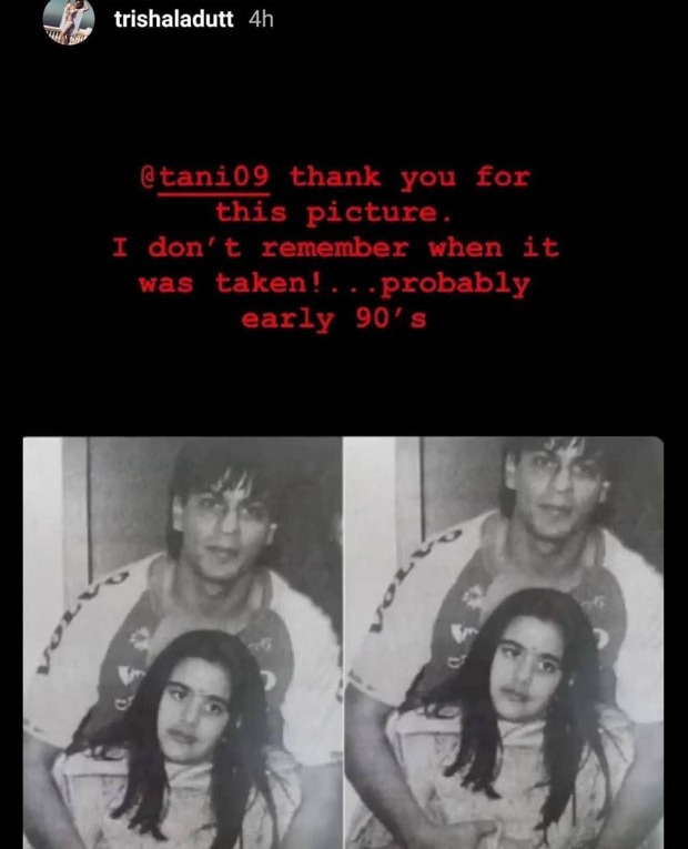 Sanjay Dutt's daughter Trishala Dutt shares unseen photo with Shah Rukh Khan