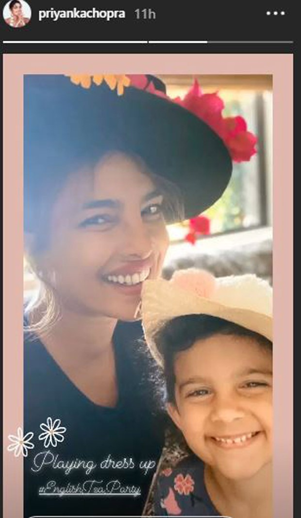 Priyanka Chopra has  day enjoying dress-up and having a tea celebration together with her niece : Bollywood Information 3