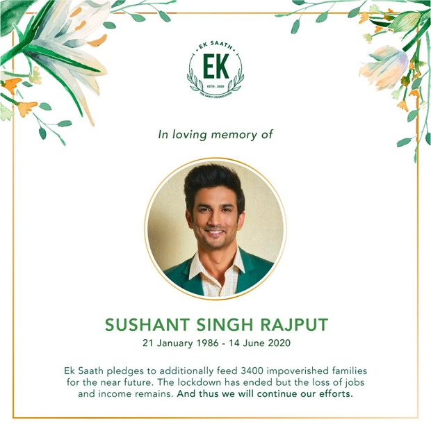 Pragya Kapoor's Ek Saath Foundation's latest initiative is an ode to Sushant Singh Rajput