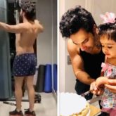 Varun Dhawan burns calories at the gym after binge eating cake during his niece's birthday