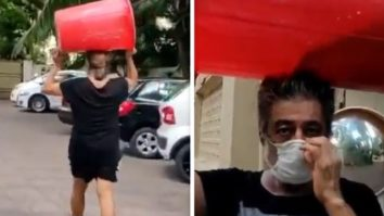 Watch: Shakti Kapoor carries a big drum on his head to buy liquor