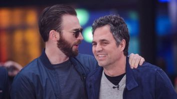 Avengers stars Chris Evans and Mark Ruffalo send sweet messages to a young boy who saved sister from dog attack