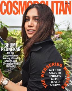 Bhumi Pednekar on the cover of Cosmopolitan, July 2020