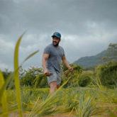 Salman Khan helps in planting rice with Iulia Vantur at his Panvel farmhouse