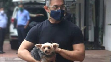 PICS: Aamir Khan spotted outside a pet clinic along with his furry friend