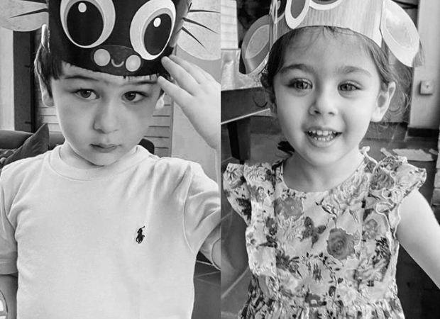 Challenge Accepted: Kareena Kapoor posts black and white picture of Taimur and Inaaya