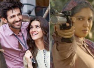 Kartik Aaryan has the perfect poster for Pati Patni Aur Woh sequel featuring Kriti Sanon and Bhumi Pednekar