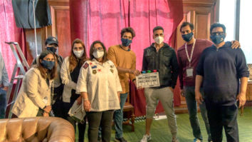 Akshay Kumar along with Jackky and Puja Bhagnani give the mahurat clap for Bellbottom