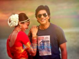 on the sets of the movie Chennai Express