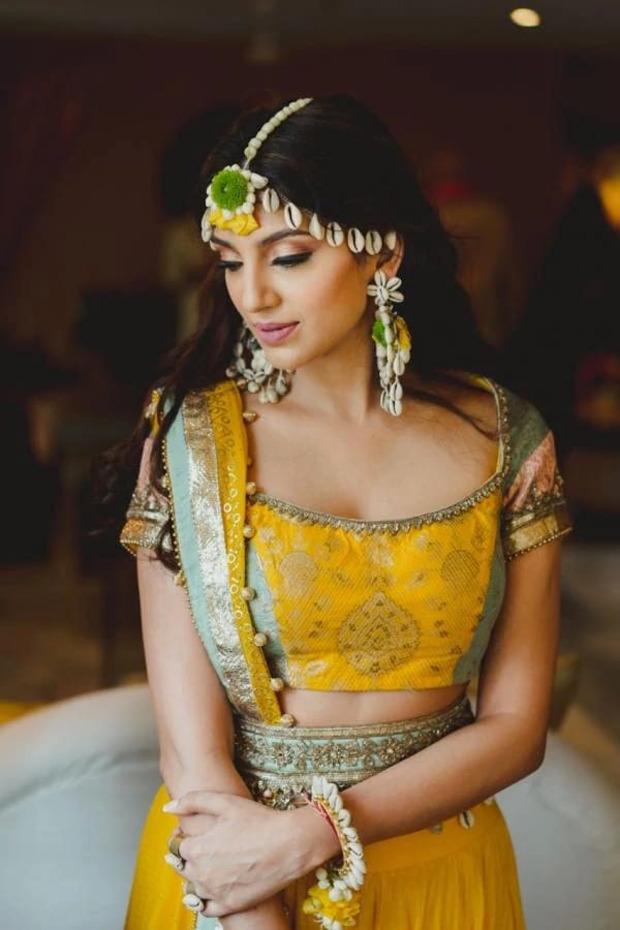 Rana Daggubati's to-be-bride Miheeka Bajaj looks ethereal in her haldi ceremony pictures
