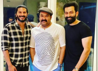 Mohanlal, Prithviraj Sukumaran and Dulquer Salmaan pose for a picture; fans wonder whether something big is coming their way