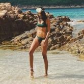 Lisa Haydon heads to the beach wit her kids; reveals that she wakes up early to enjoy an empty beach