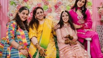 Sara Ali Khan opts for a hot pink kurta at JP Dutta's daughter's mehendi function