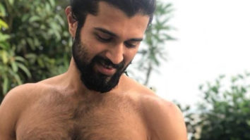 Vijay Deverakonda posts a shirtless picture as he poses with his 'cute beast'