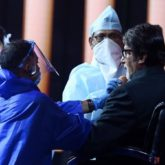 Amitabh Bachchan shares a picture from the sets of Kaun Banega Crorepati 12, shows they're maintaining precautions
