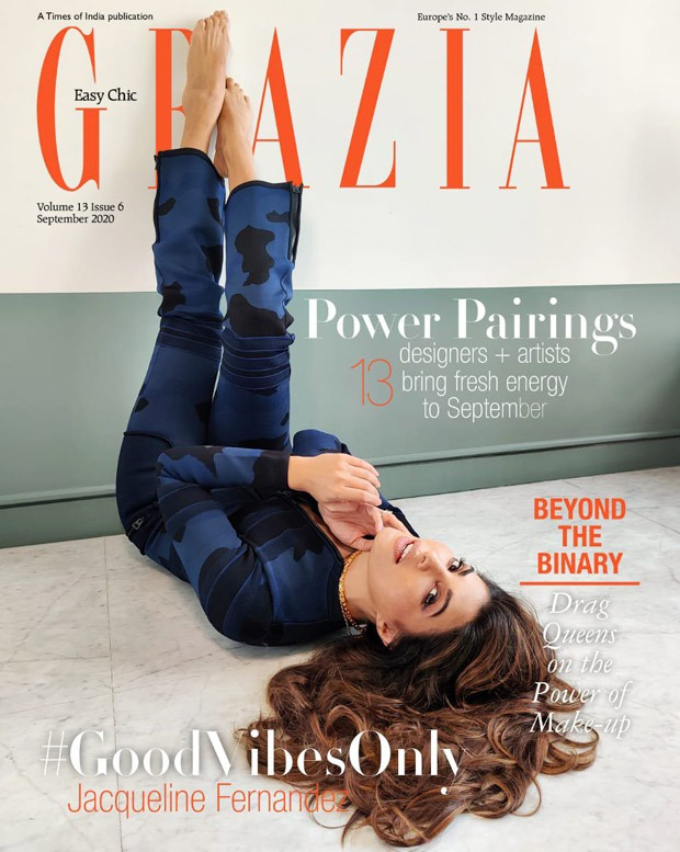 Jacqueline Fernandez takes well being and positivity one step ahead as she features on the cover of Grazia India