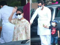 Kareena Kapoor Khan leaves for Delhi along with Saif Ali Khan and Taimur for Laal Singh Chaddha shoot