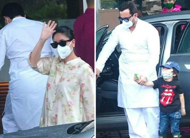 Kareena Kapoor Khan leaves for Delhi along with Saif Ali Khan and Taimur for Laal Singh Chaddha shoot