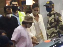 Ranveer Singh and Deepika Padukone spotted at the airport