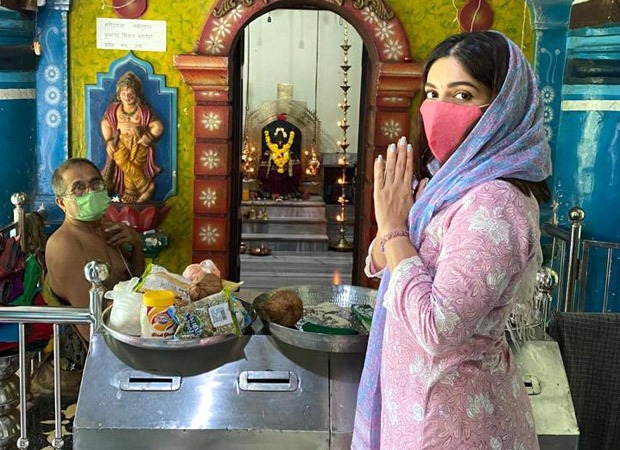 Bhumi Pednekar does a temple pilgrimage around her ancestral home in Goa; see pics
