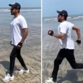 Anil Kapoor gets to the beach to escape; his trainer makes him sprint