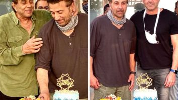 Dharmendra shares photos from Sunny Deol's 64th birthday celebrations with Bobby & Karan Deol