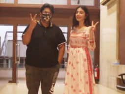Divya Khosla Kumar and Milap Zaveri spotted at Vile Parle Gallery