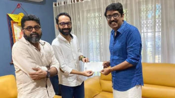 Fahadh Faasil hands over Rs 10 lakhs from the profit of C U Soon to Film Employees Federation of Kerala
