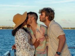 Glen Powell is third-wheeling as Nick Jonas kisses Priyanka Chopra in the latest picture