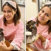Hina Khan celebrates her return from Bigg Boss 14 with a cake!