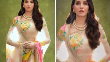Nora Fatehi looks exquisite in Sabyasachi saree during her last day on India's Best Dancer