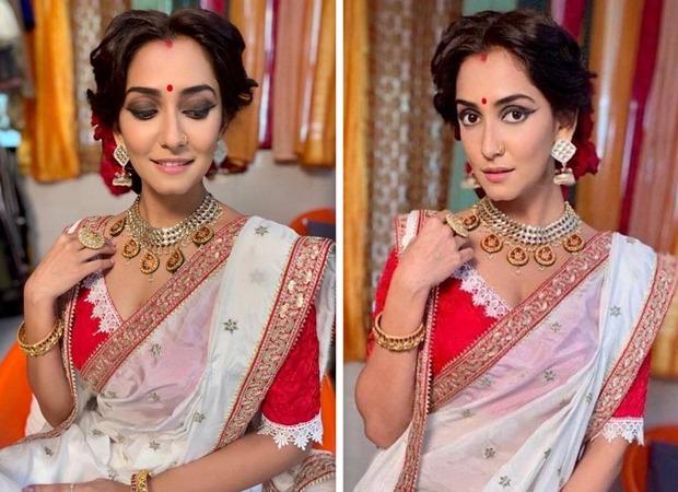 Srishti Jain dons an ethereal Bengali avatar for Hamariwali Good News