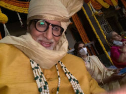 It's family day for Amitabh Bachchan on sets as he shoots with Jaya Bachchan and Shweta Bachchan Nanda