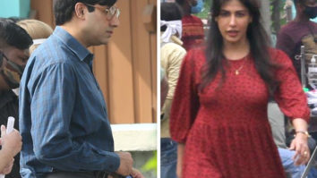 Abhishek Bachchan and Chitrangda Singh's looks leaked from their new schedule of Bob Biswas in Kolkata