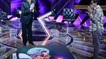Amitabh Bachchan thanks a fan who gifted him a rangoli to commemorate 51 years in the industry on KBC